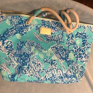 Lilly Pulitzer Get Away Tote Fabric blue
